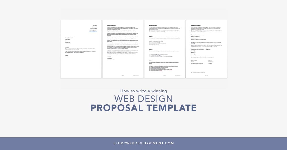 Web Design Proposal Template Free Download